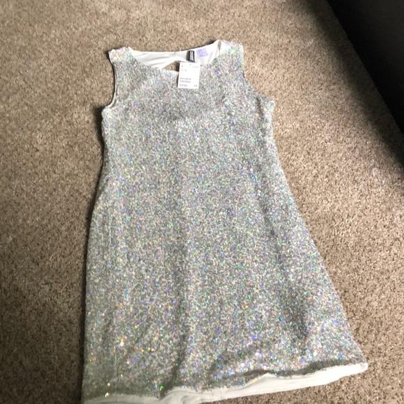 7189756c225f5 Divided Dresses   Hm Sequins Dress Silver   Poshmark